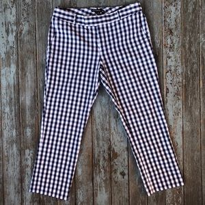 Banana Republic Checkered Cropped Trousers